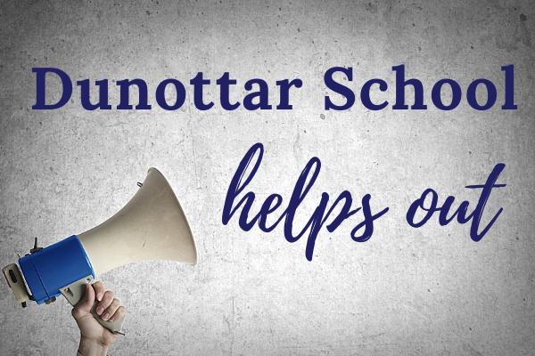 Dunottar School helps out