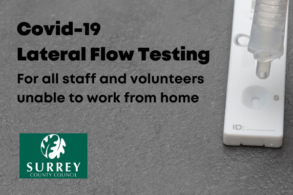 Lateral flow tests for employees & volunteers