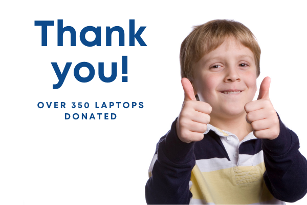 700 laptops donated