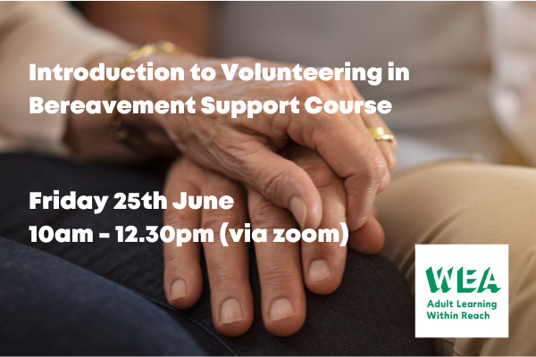 Bereavement support training for volunteers in Redhill