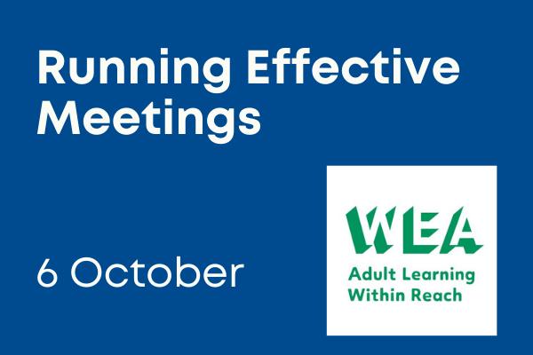 Running effective meetings training - 6 october