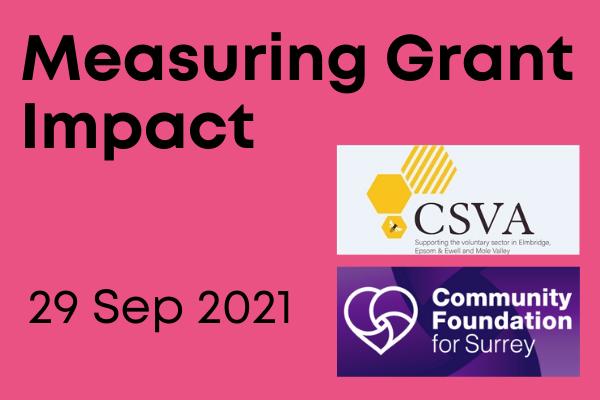 measuring grant impact 29 September