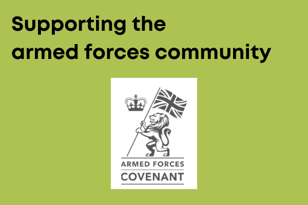 Supporting armed forces personnel