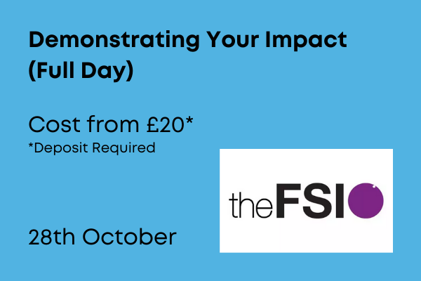 Demonstrating your impact, full days training from £20