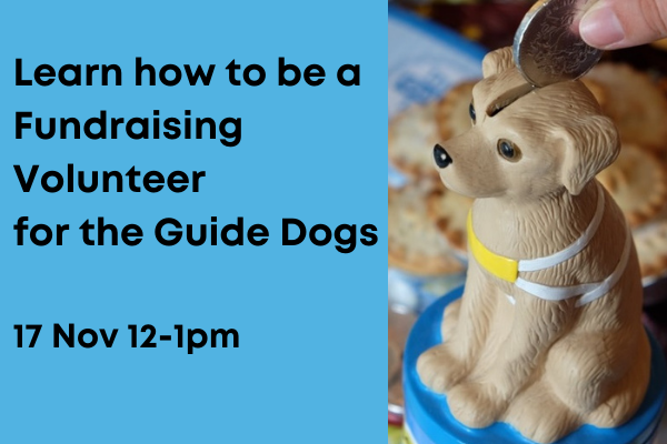 Fin dout how to be afundraising volunteer with guide dogs