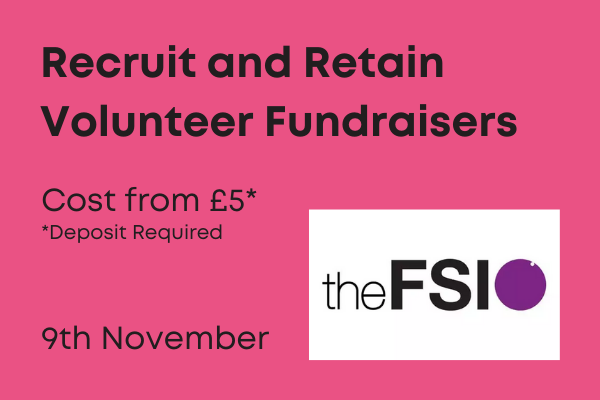 Recruit and Retain volunteer fundraisers 90 minute webinar by FSI