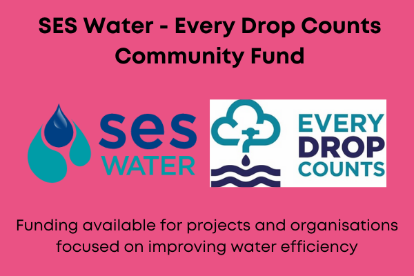 SES Water Every drop counts community fund